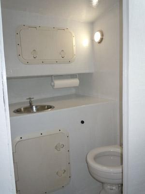 bathroom or head area of the f/v southpaw