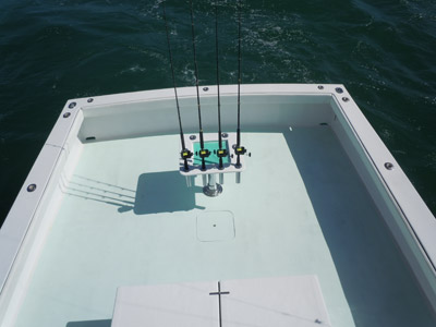 huge fishing cockpit or deck of the southpaw