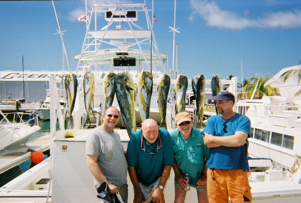 key west fishing charter pictured with their catch