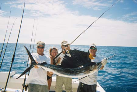 The charter holding their sailfish