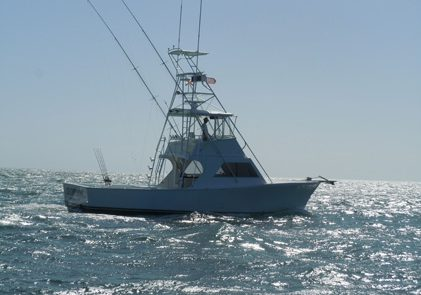 the southpaw on a fishing charter trolling key west waters